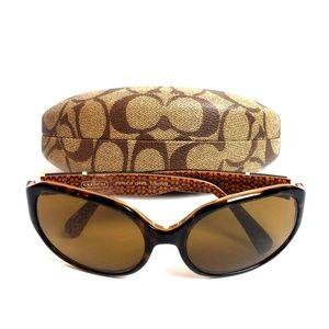 Coach Patricia Tortoise Sunglasses With Case
